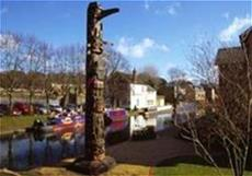 The Canadian Totem Pole on the Grand Union Canal at Berkhamsted