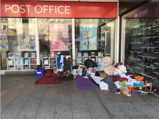 WH Smith encampment