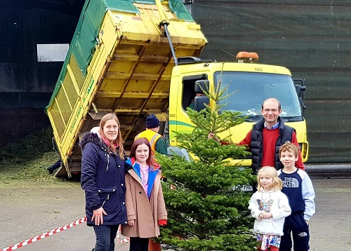 Christmas tree recycling day 2019