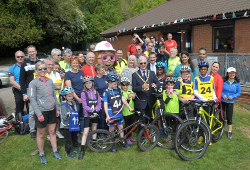 The Mayor joins local residents at the launch of the new Dacorum Cycle Hub