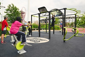 Ftiness gym at London's Olympic Park