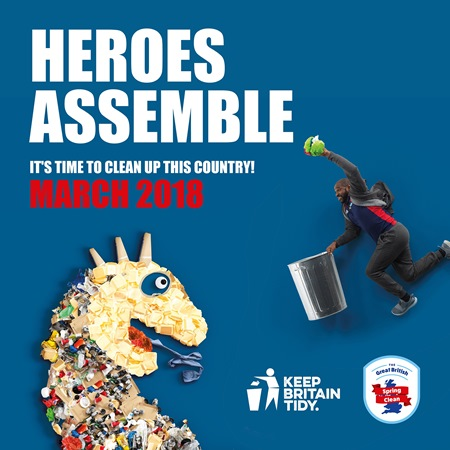 Poster for the Great British Spring Clean 2018