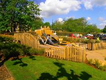 Play area in the newly restored Water Gardens